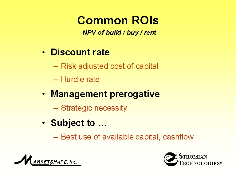 net present value and hurdle rate